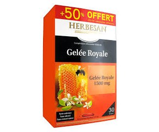 GELEE ROYALE 1500MG 20 ampoules+ 10 offertes HERBESAN