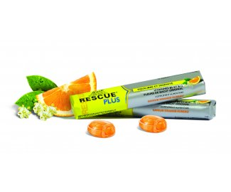 RESCUE PLUS pastilles au coeur fondant goût orange par 10
