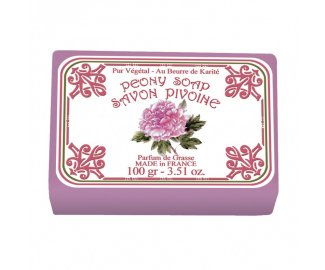 Savon parfumé à la PIVOINE 100g