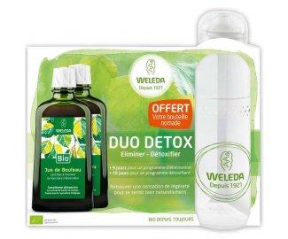 WELEDA Duo Détox Jus de Bouleau 2x200ml + Bouteille nomade OFFERTE