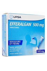 EFFERALGAN 500mg (16 sachets vanille/fraise)