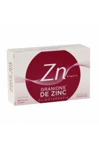 GRANIONS de Zinc 30 ampoules buvables