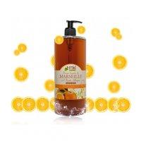 MKL Savon liquide de Marseille à l'huile d'argan Orange et Miel 1 Litre