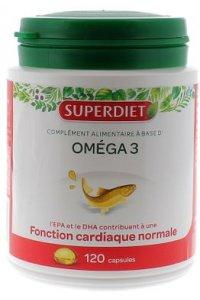 OMEGA 3 Cardio-vasculaire 120 capsules SUPERDIET