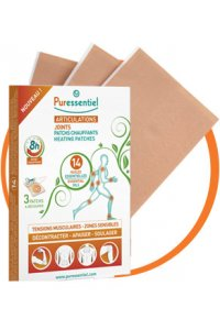 Patchs chauffants articulations et muscles - 14 huiles essentielles (3 patchs)