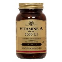 SOLGAR Vitamine A 5000 UI 100 comprimés