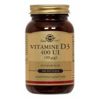 SOLGAR Vitamine D3 400 UI 100 comprimés