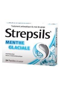 STREPSILS Menthe glaciale 24 pastilles