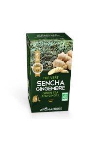 Thé vert SENCHA-GINGEMBRE 18 infusettes