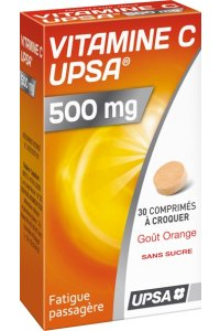 VITAMINE C 500 mg orange (2 tubes de 15 comprimés à croquer)