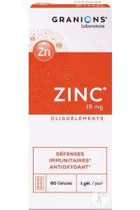 ZINC 15mg -  60 gélules