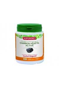 CHARBON VEGETAL ACTIVE Superdiet 150 gélules