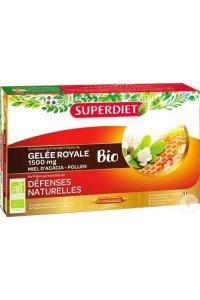 GELEE ROYALE MIEL D'ACACIA Bio Superdiet 30 ampoules de 15 ml
