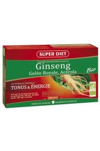 GINSENG, GELEE ROYALE, ACEROLA Bio Superdiet 20 ampoules de 15 ml