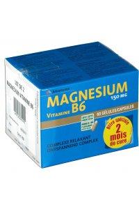 MAGNESIUM VITAMINE B6 60 gélules lot de 2