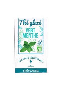 THE GLACE VERT MENTHE 10 SACHETS PYRAMIDES AROMANDISE